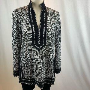 MICHAEL Michael Kors Zebra Print Tunic M